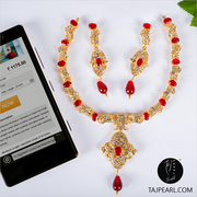 Gold Plated Victorian Necklace,  from Online jewelry Store Taj Pearl