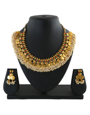 Exclusive collection of Laxmi haar and coin necklace at best price.