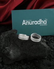 Shop for Silver Toe Rings Online for Women by Anuradha Art Jewellery